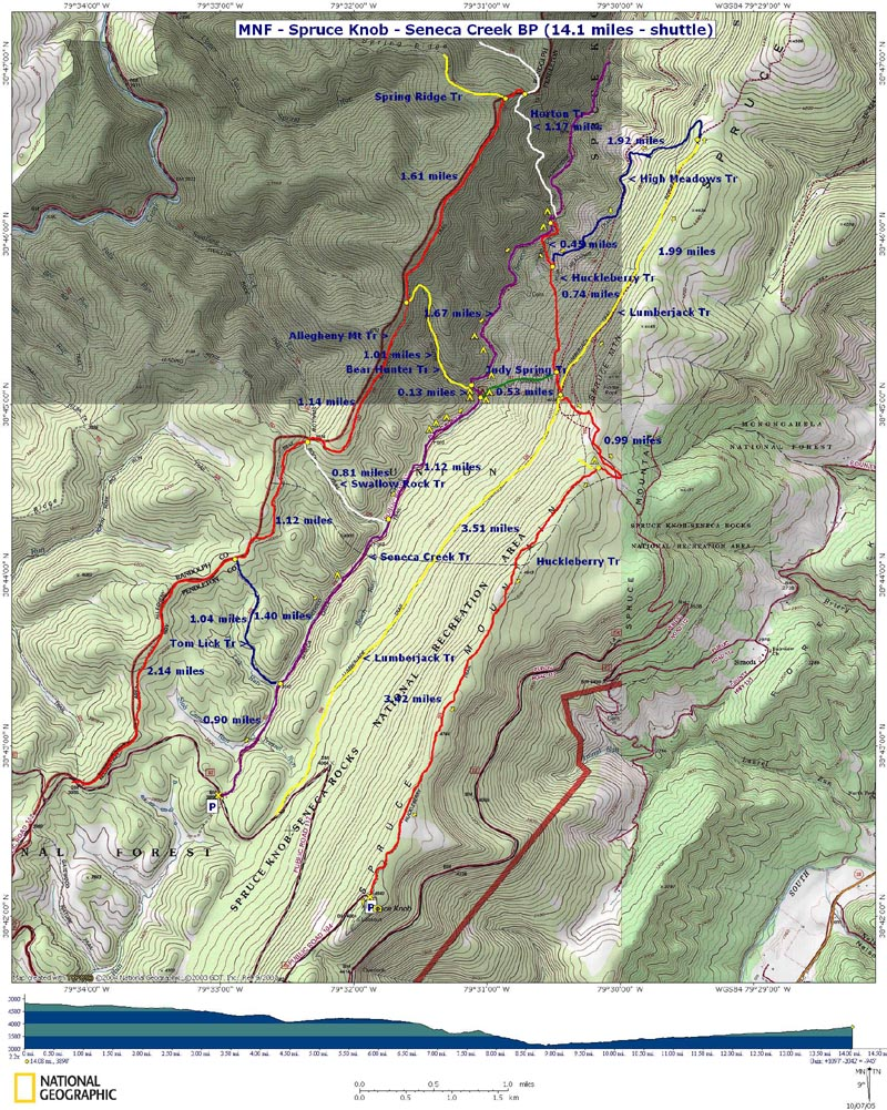 Spruce Knob / Seneca Creek Trails