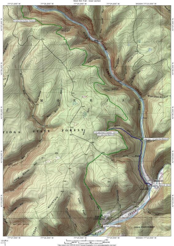 TruBurn West Rim Trail Pennsylvania Grand Canyon - Grand canyon pa map